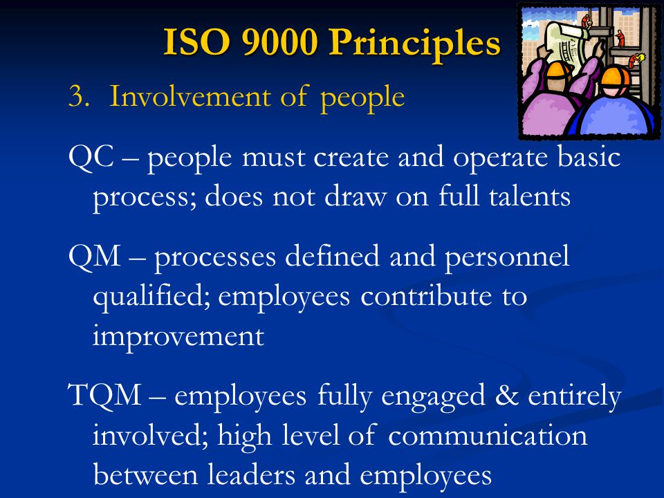 ISO 9000 Principles Involvement of people