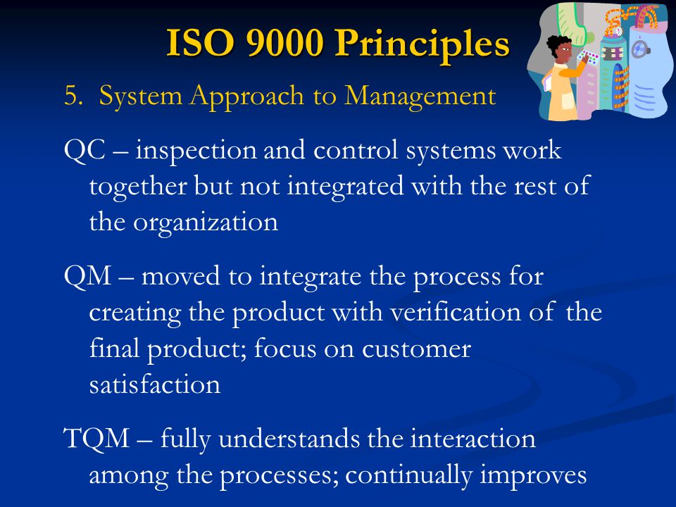 ISO 9000 Principles 5. System Approach to Management