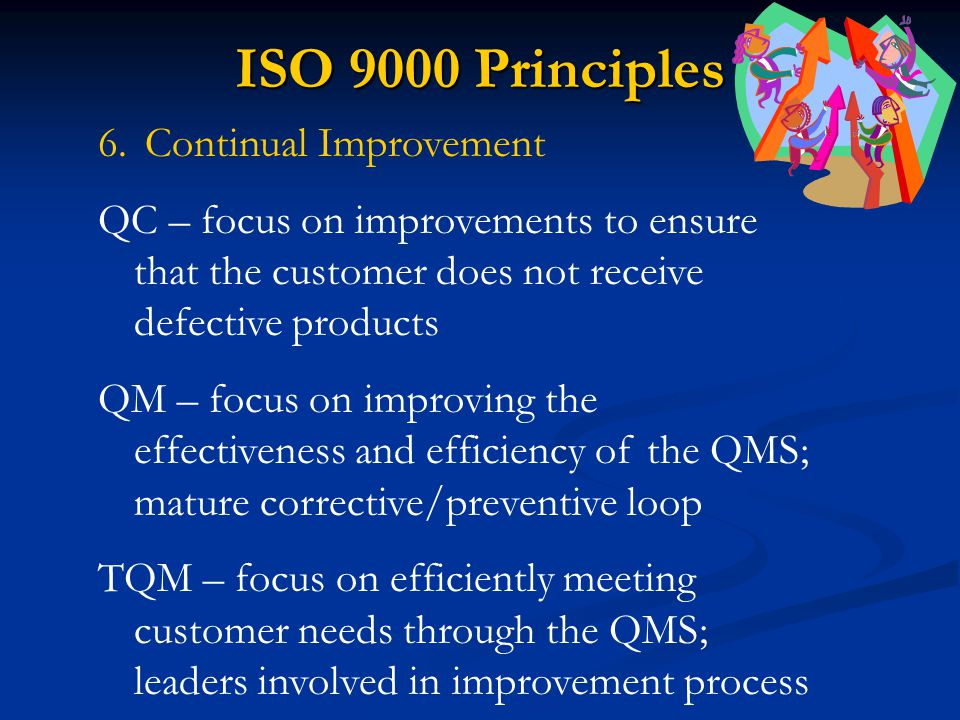 ISO 9000 Principles Continual Improvement