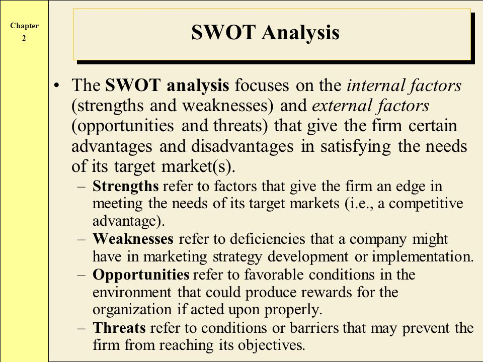 Benefits of SWOT Analysis