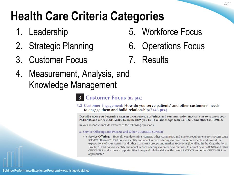Baldrige Health Care Criteria For Performance Excellence