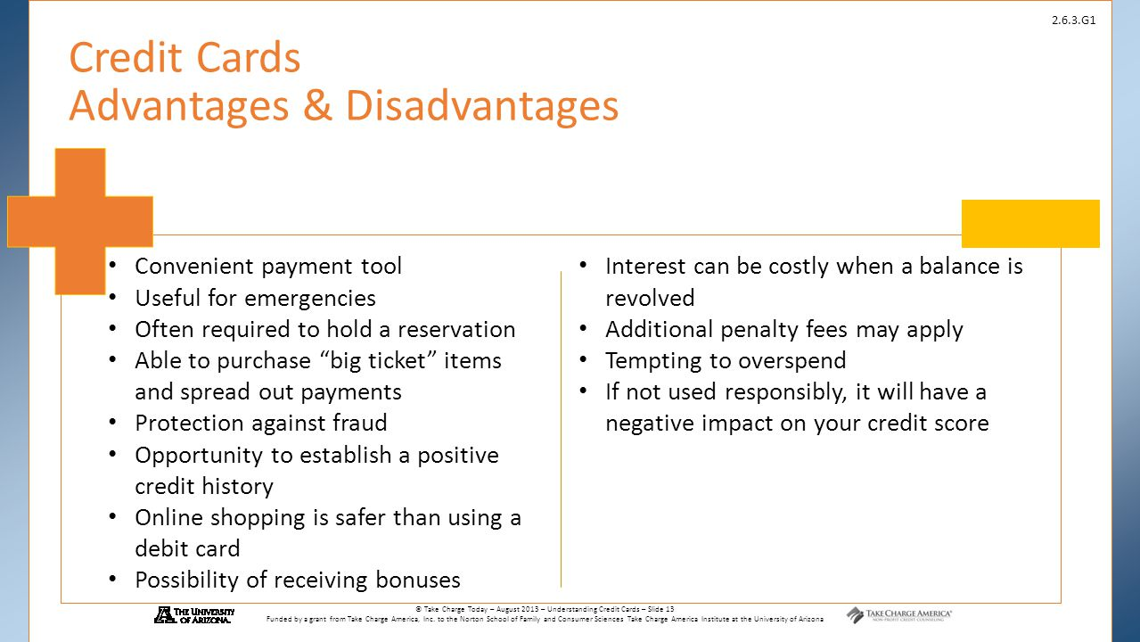 Credit Cards Advantages Disadvantages