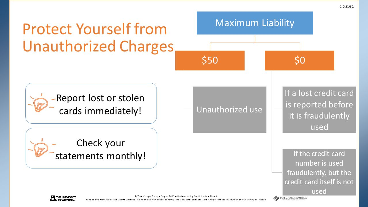 Protect Yourself from Unauthorized Charges