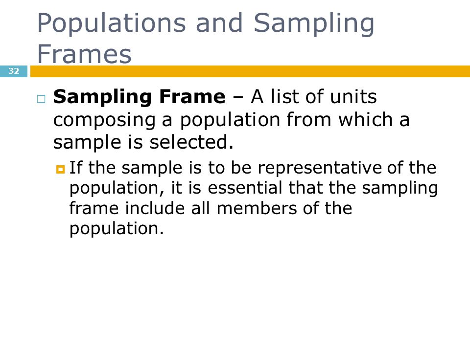 Populations and Sampling Frames