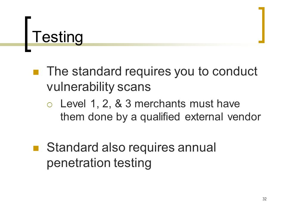 Annual penetration testing