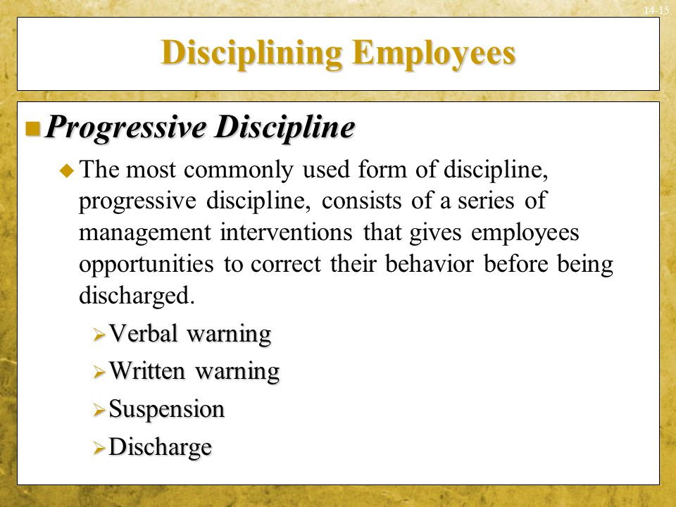 employee rights and discipline essay Positive discipline — sending the right or wrong i've seen employee discipline take many write an essay on how the problem would be corrected in.