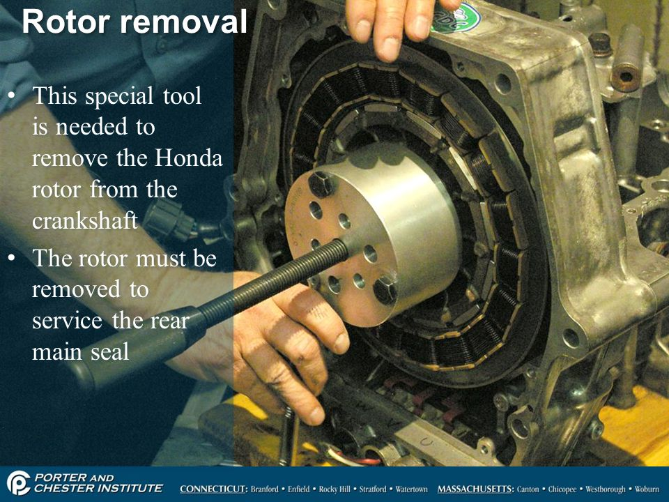 This special tool is needed to remove the Honda rotor from the crankshaft