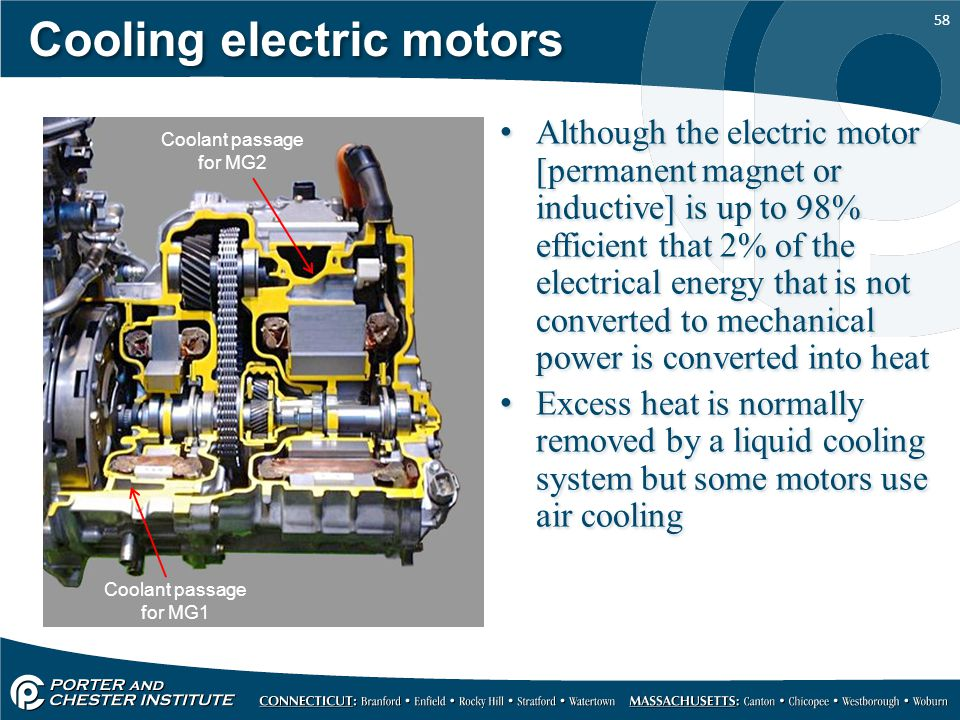 Cooling electric motors