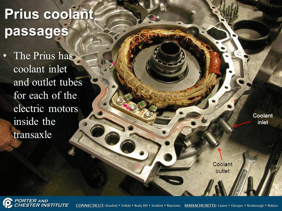 Prius coolant passages