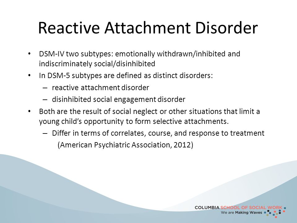 Reactive Attachment Disorder