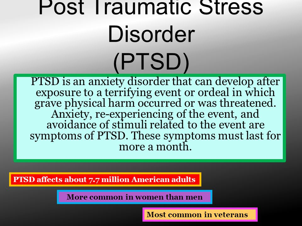 post traumatic stress disorder in relation to Post-traumatic stress disorder,  ptsd was first brought to public attention in relation to war veterans, but it  trauma: the impact of post-traumatic.