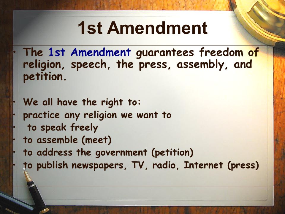 1st and 2nd amendment The second amendment (amendment ii) to the united states constitution  protects the right of  this was the first time the court had ruled that the second  amendment guarantees an individual's right to own a gun in mcdonald v  chicago.