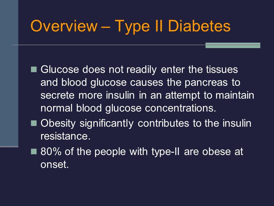 Overview – Type II Diabetes