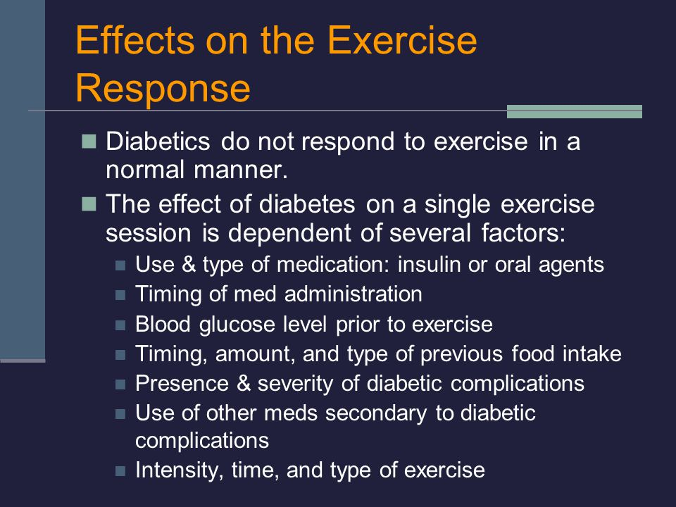 Effects on the Exercise Response