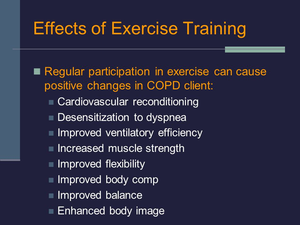 Effects of Exercise Training