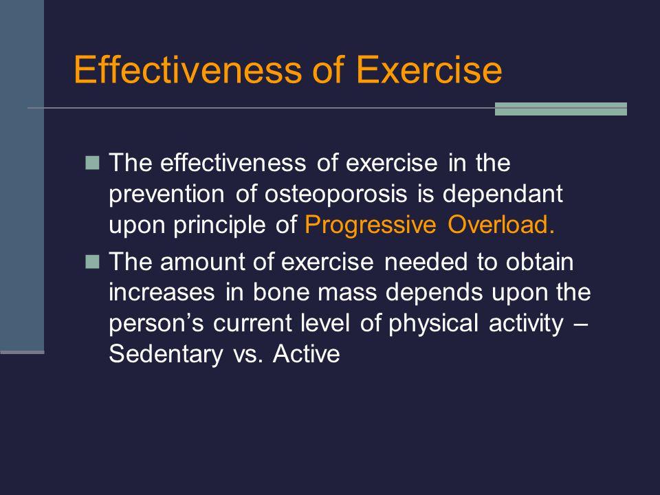 Effectiveness of Exercise