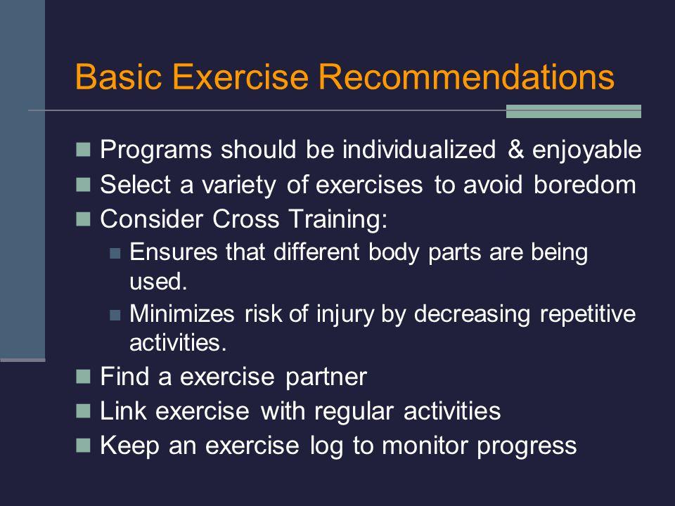 Basic Exercise Recommendations