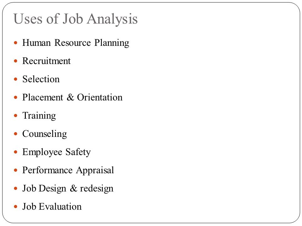 Role of Job Analysis in Establishing Effective Hiring Practices