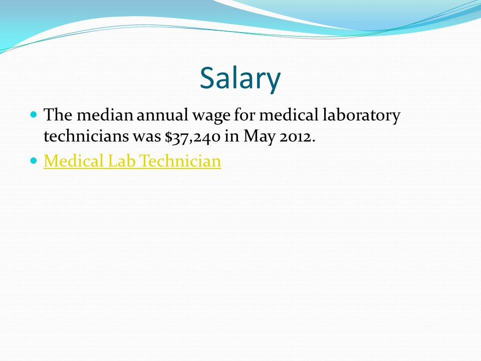 medical lab technologists salary