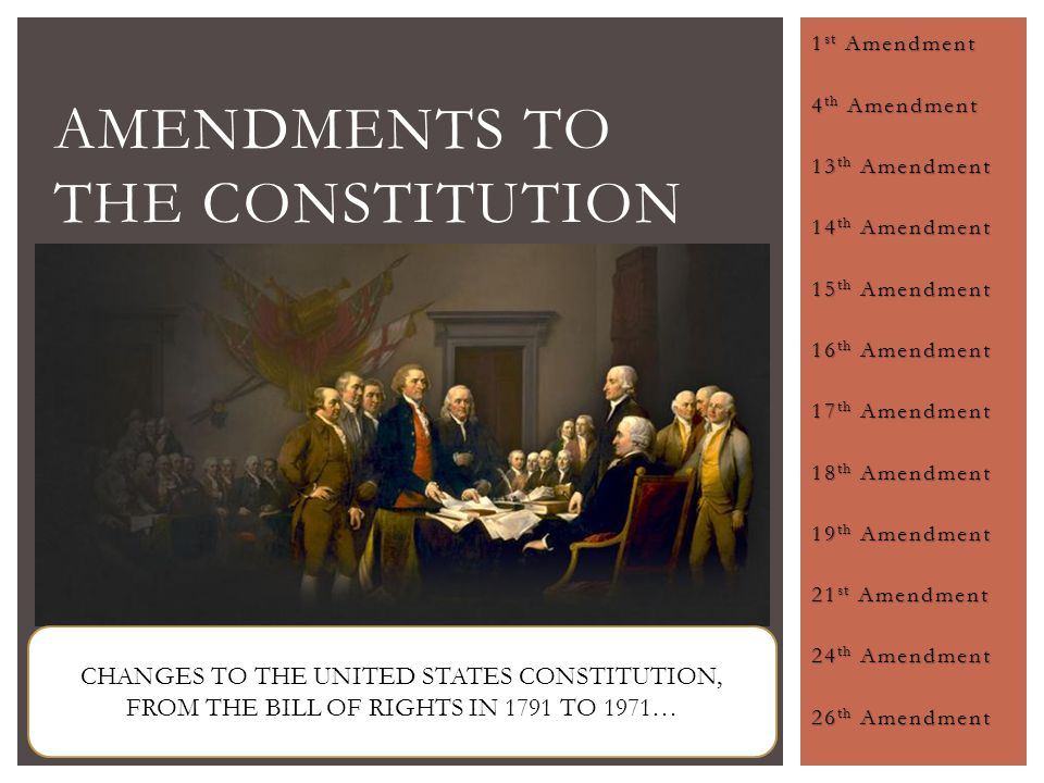 a list of amendments to the us constitution since 1971