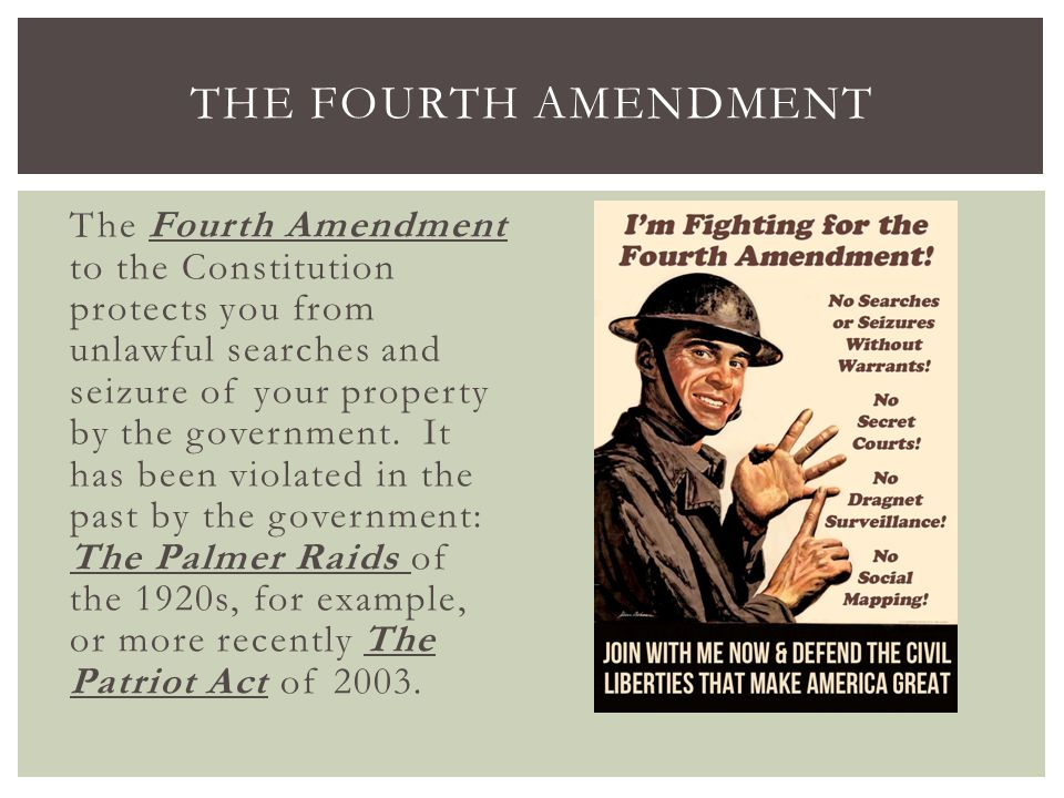the fourth amendment search and seizure The fourth amendment, and its accompanying case law, is one of the most  complex areas of law which law applies was it a search was it a seizure.