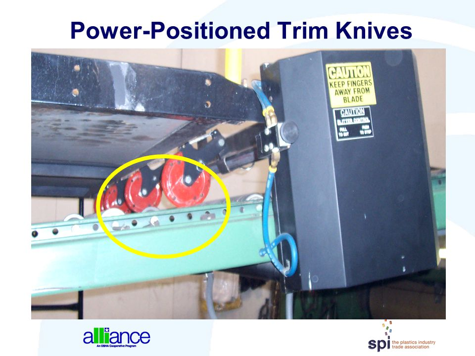 Power-Positioned Trim Knives