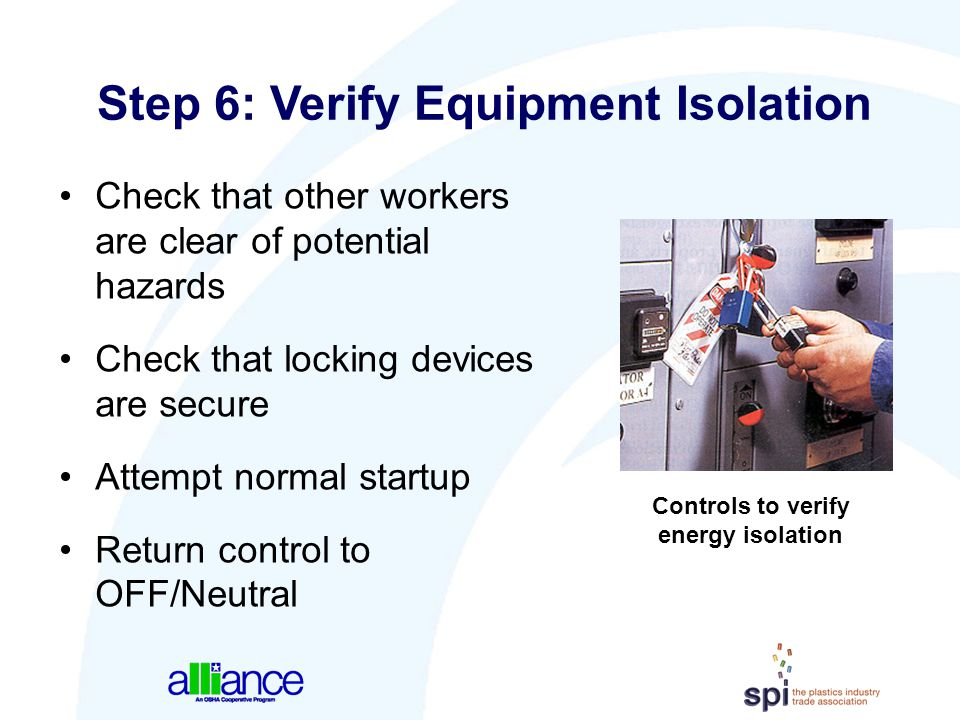 Step 6: Verify Equipment Isolation