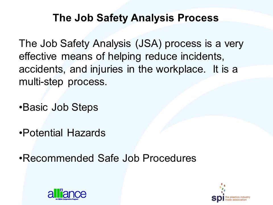The Job Safety Analysis Process