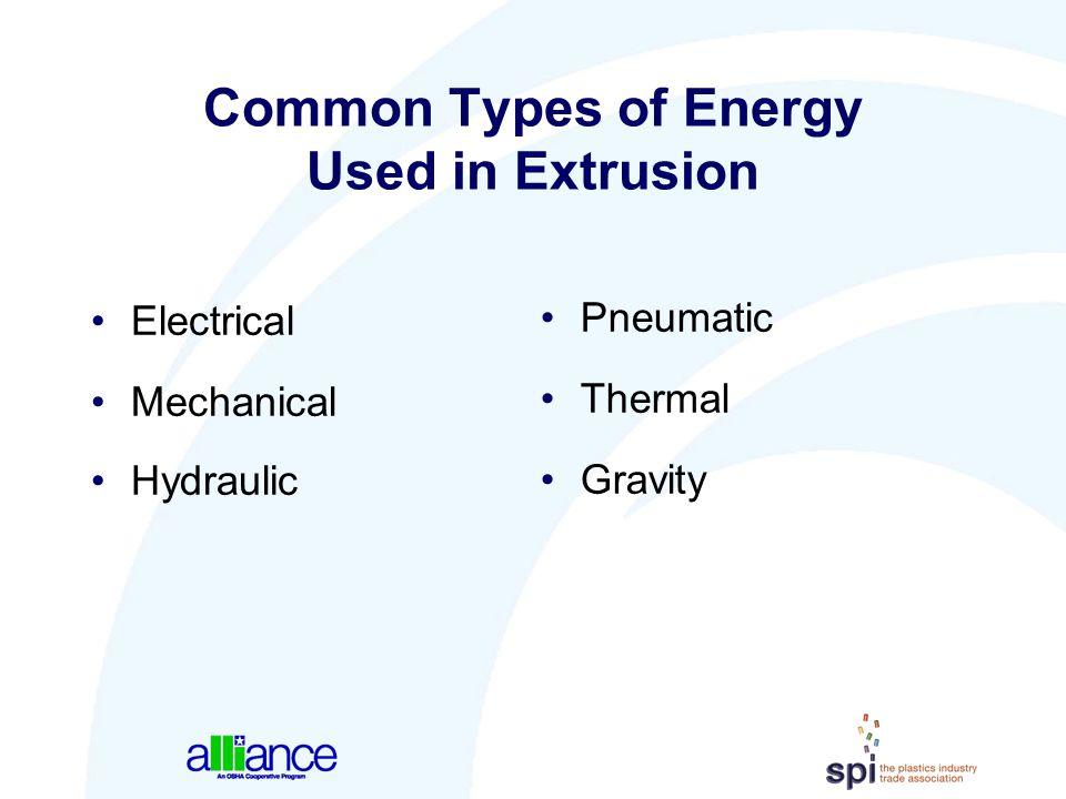 Common Types of Energy Used in Extrusion