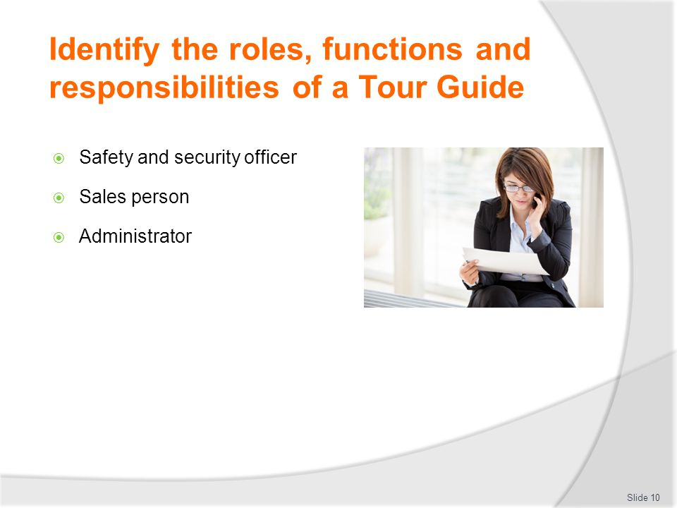 Work as a tour guide d2 ttg trainer welcomes - Back office roles and responsibilities ...