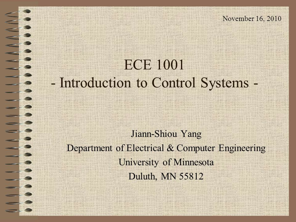 introduction to control systems A control system manages, commands, directs, or regulates the behavior of other  devices or systems using control loops it can range from a single home.
