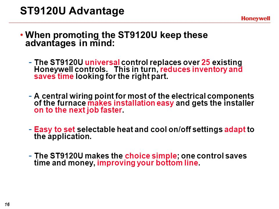ST9120U+Advantage+When+promoting+the+ST9120U+keep+these+advantages+in+mind%3A st9120u1003 universal electronic fan timer training module ppt honeywell st9120c4057 wiring diagram at gsmportal.co