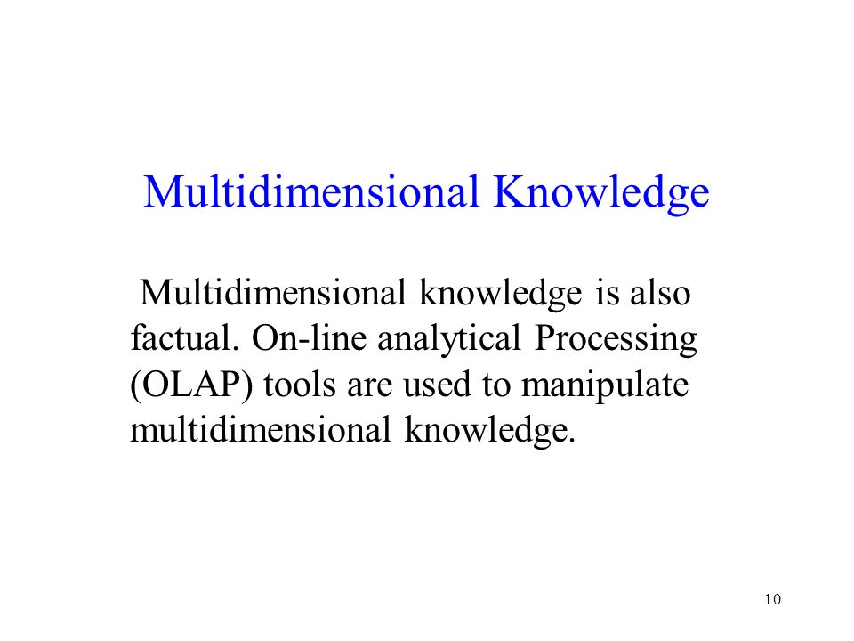 Multidimensional Knowledge