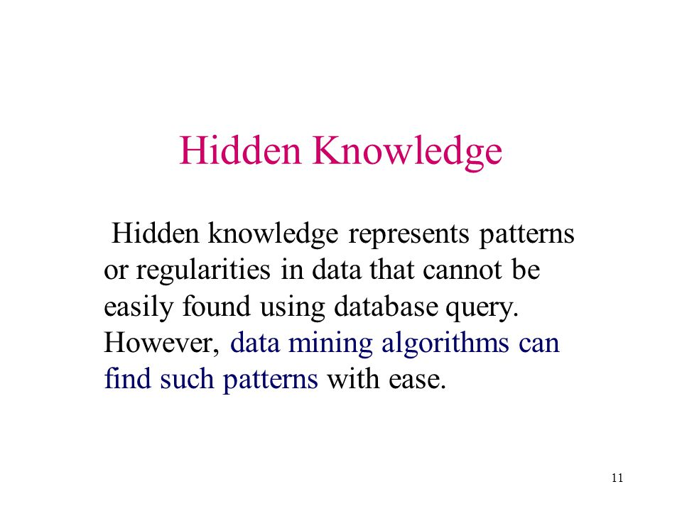 Hidden Knowledge