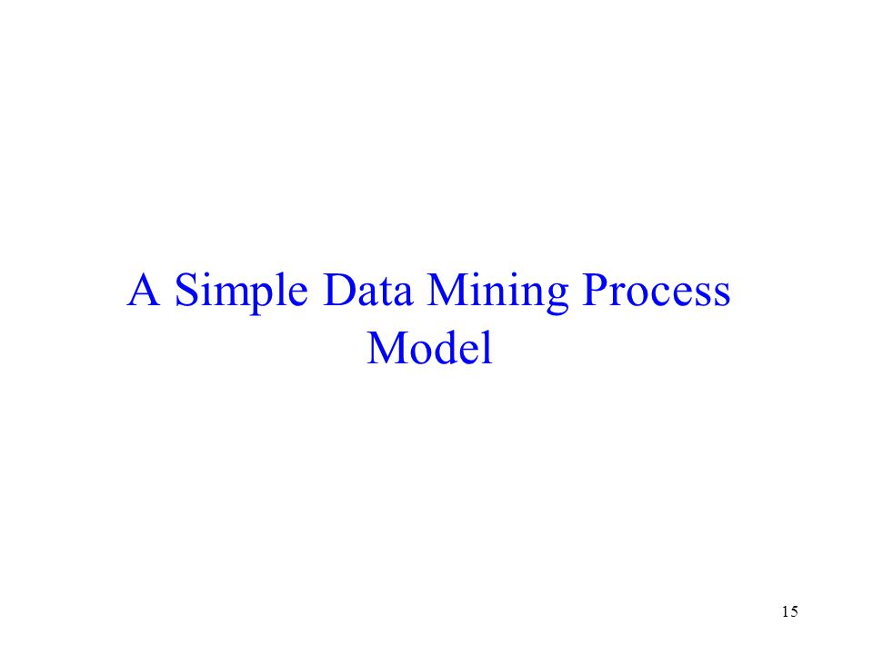 A Simple Data Mining Process Model