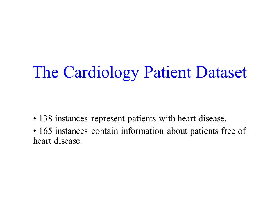 The Cardiology Patient Dataset