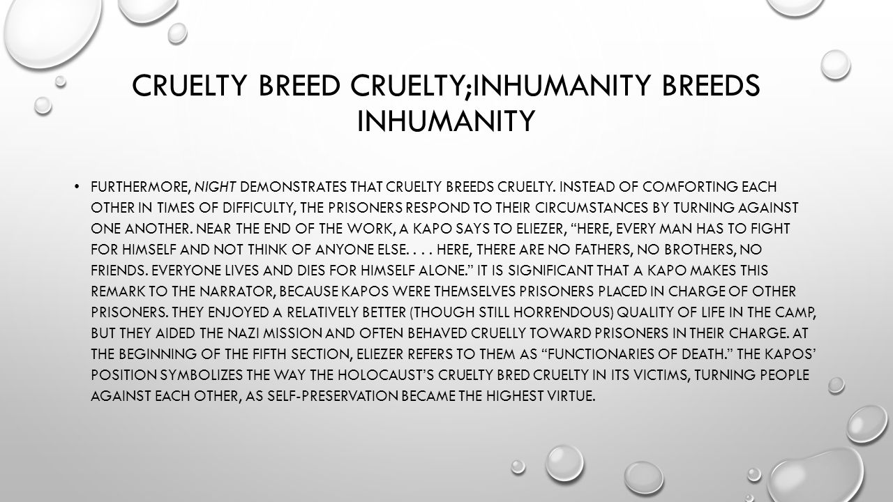 inhumanity breeds inhumanity What's wrong with the heifer project - from the heifer project: inhumanity in the name of humanity - an all-creaturesorg animal issues article series.