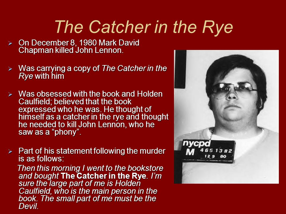 catcher in the rye murdered