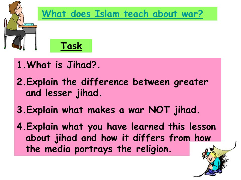 What does Islam teach about war