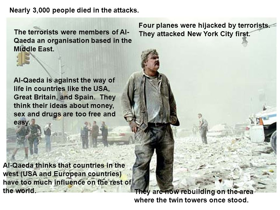 Nearly 3,000 people died in the attacks.