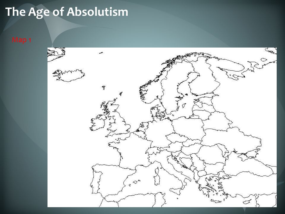 The Age of Absolutism Map 1