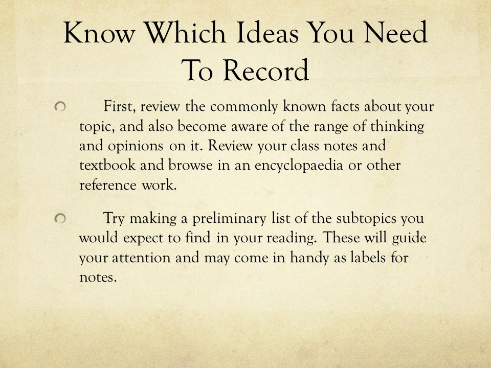 Know Which Ideas You Need To Record