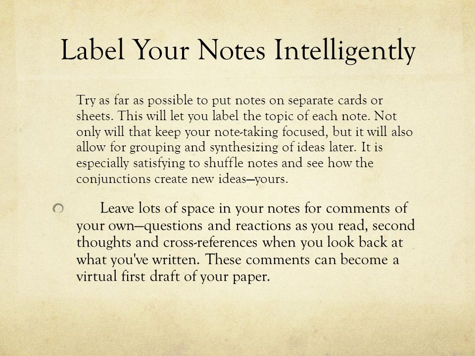 Label Your Notes Intelligently