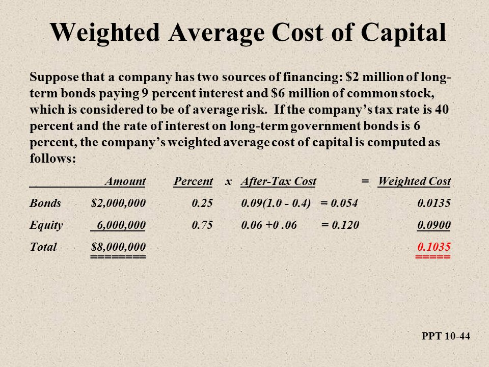 weighted marginal cost of capital pdf