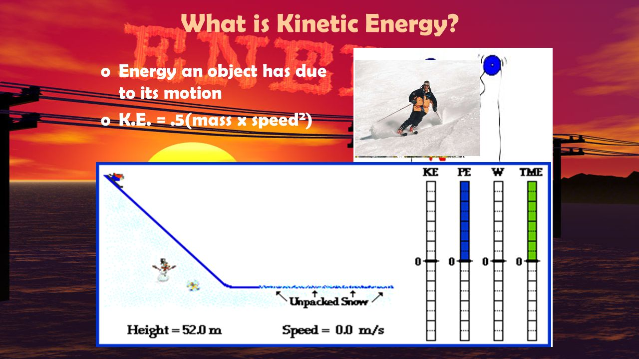 What is Kinetic Energy Energy an object has due to its motion