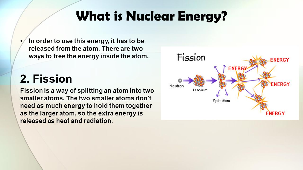 What is Nuclear Energy 2. Fission