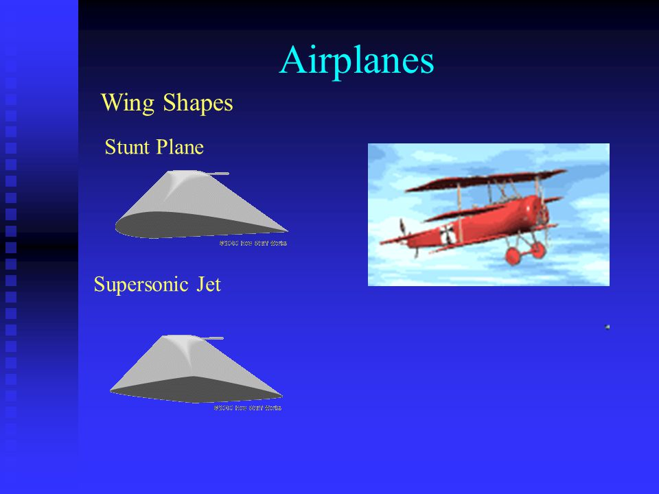 Airplanes Wing Shapes Stunt Plane Supersonic Jet