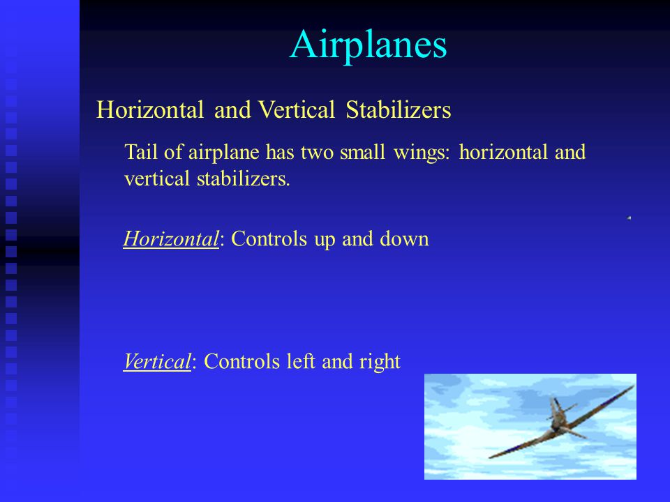 Airplanes Horizontal and Vertical Stabilizers