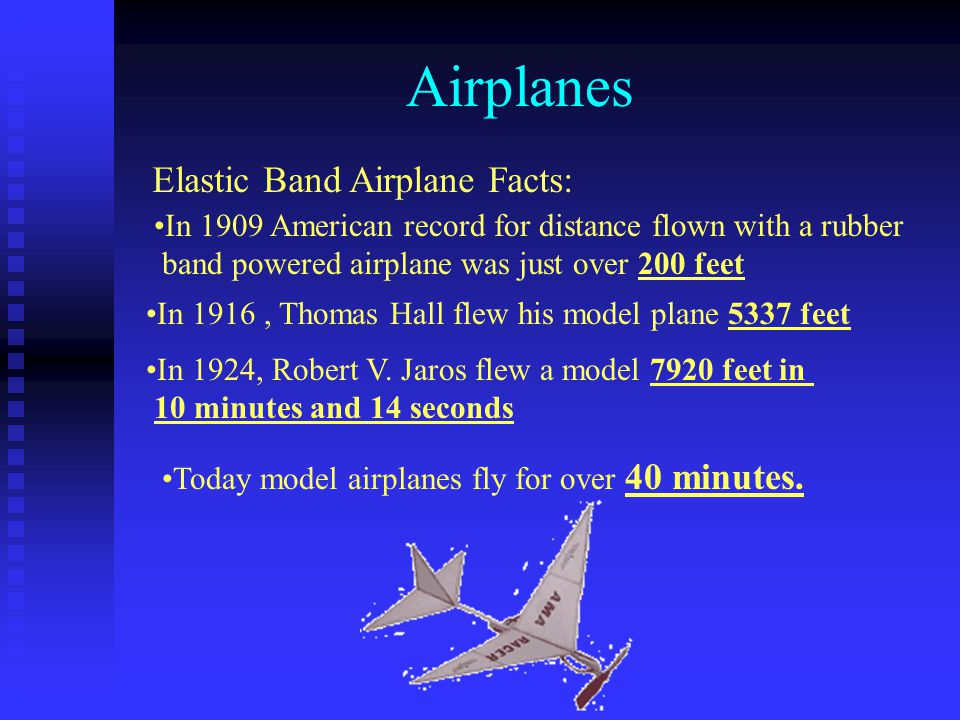 Airplanes Elastic Band Airplane Facts: