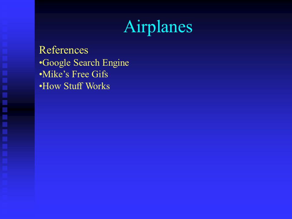 Airplanes References Google Search Engine Mike's Free Gifs